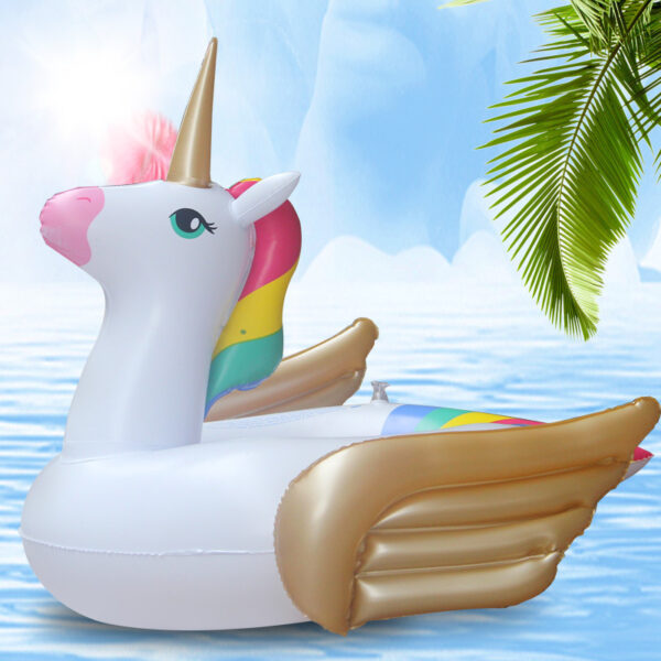 0-3 Years Old Baby Unicorn Inflatable Pool Float baby Seat Ride-On Swimming Ring Air Mattress Water Party Toys For Kids boia Swimming