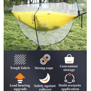 1-2 Person Anti-Mosquito Hammock Outdoor Camping Hammock With Mosquito Net Quick Release Camping Tent Hanging Swing Sleeping Bed Bedrooms