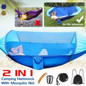 1-2 Person Portable Outdoor Mosquito Net Parachute Hammock Camping Hanging Sleeping Bed Swing Double Chair Hamack Bedrooms