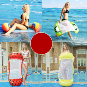 1 PCS Water Hammock Recliner Inflatable Floating Sea Swimming Mattress Chair Swimming Pool Party Toy Lounge Bed For Swimming Swimming
