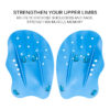 1 Pairs Swimming Paddles Professional Swimming Strokes Practice Correction Adjustable Hand Webbed Gloves For Adult Children Swimming