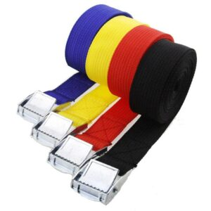 1 Pc 1m Buckle Tie-down Belt Cargo Straps For Car Tow with Rope Ratchet For Luggage Bike Buckle Metal Bag Belt Motorcycle S E6I4 Car accessories