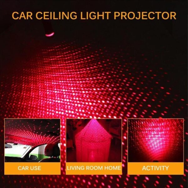 1 Pcs Ambient Lights Car Roof Star Light Romantic USB Night Light Atmosphere Lamp Home Ceiling Decoration Light Car accessories