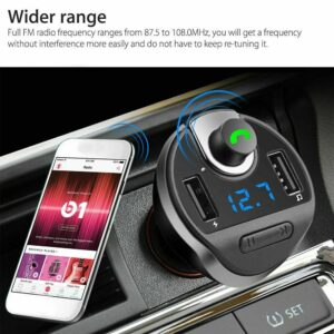 1 Pcs Automobile Bluetooth Fm Transmitter Wireless Audio Receivers Mp3 Fast Player Mic Adapters Charger Accessories Vehicle N1X5 Car accessories