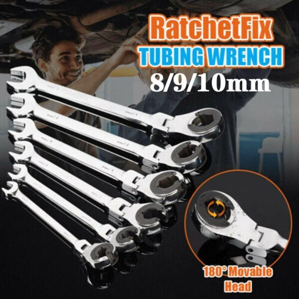 1 Pcs Rotatable Open Tubing Ratchet Wrench Torx Wrench Tool Car Hand Furniture Universal Repair Bayonet Spanner E3Y8 Car accessories