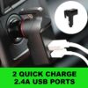 1 pcs USB Emergency Escape Tool Life-Saving Rescue Car Charger Spring Loaded Window Breaker Punch Seat Belt Cutter Hammer Car accessories