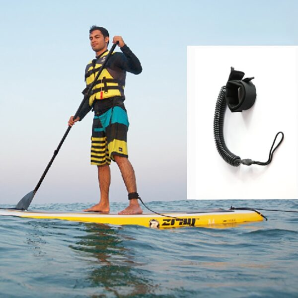 10 Feet Coiled Surfboard Leash Surfing Stand UP Paddle Board Ankle Leash Sup Board Foot Leg Rope Surfboard Raft Kayak Rope Swimming