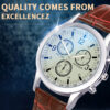 100% Top Quality Men Three Eyes Luxury Business Quartz Wrist watches Stainless Steel Dial Casual Bracele Watch clock relogio Fashion Life & Accessories Iwatch & Accessories
