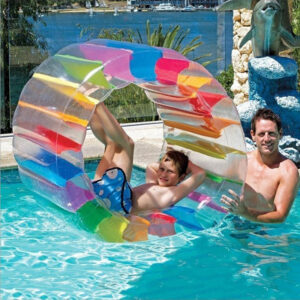 100X65X60cm Colorful Inflatable Water Wheel Roller Float Giant Roll For Children Swimming Pool Toys Crawling Roller Toy Swimming