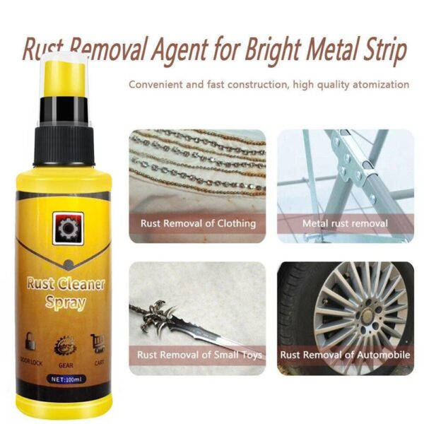 100ml Powerful All-Purpose Rust Cleaner Spray Derusting Spray Car Maintenance Household Cleaning Tools Anti-rust Lubricant Car accessories