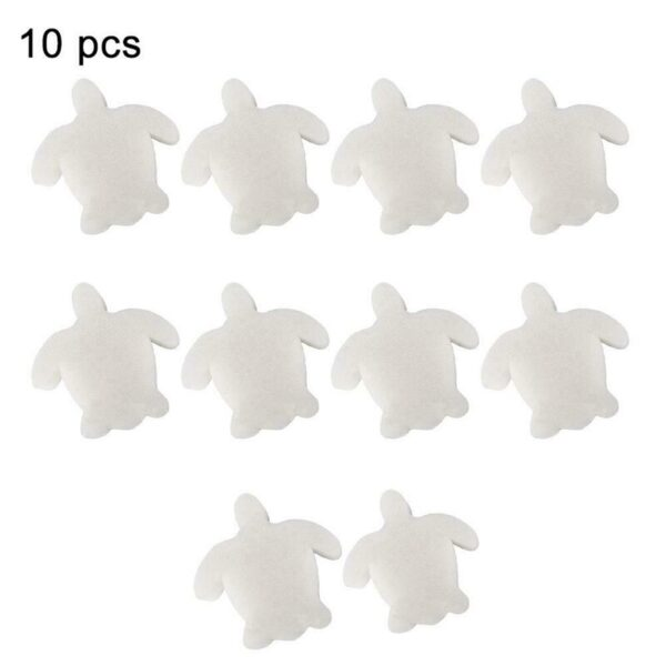 10PCS Turtle Oil Absorbing Sponge Multi-Function Cleaning Sponge For Swimming Pool Hot Tub Spa Absorb Sludge Dirt Scum Swimming