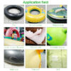 10Pcs TPU Waterproof Transparent Outdoor Tent Jacket Repair Tape Patch Self Adhesive Nylon Sticker Cloth Patches Accessories Swimming