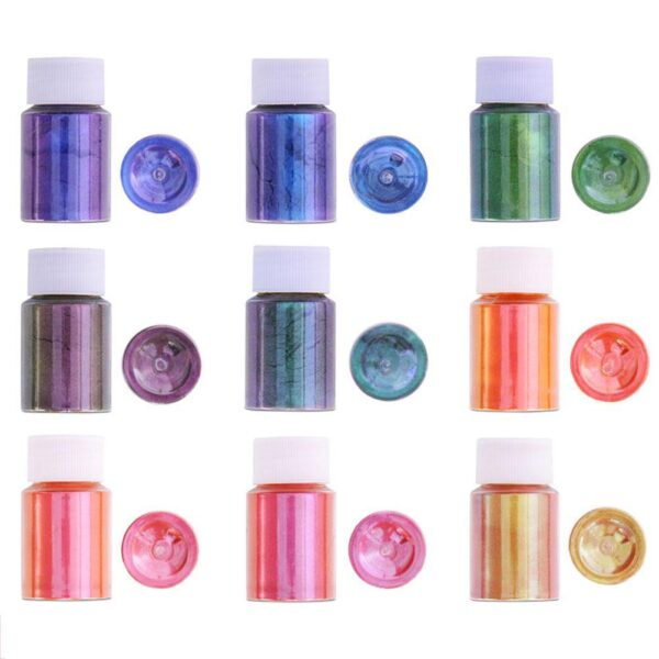 10g Chameleon Pigments Acrylic Paint Powder Coating Dye for Car Automotive Painting Decoration Arts Craft Nail Painting Supplies Car accessories