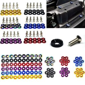 10pcs M6 JDM Car Modified Hex Fasteners Fender Washer Bumper Engine Concave Screws Car-styling Car accessories