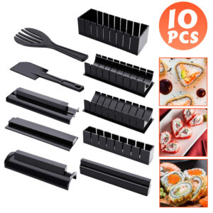 10pcs Sushi Maker High Quality Making Sushi Tools Multifunctional Mould Rice Mold Japanese Rice Ball Cake Roll Mold Kitchen