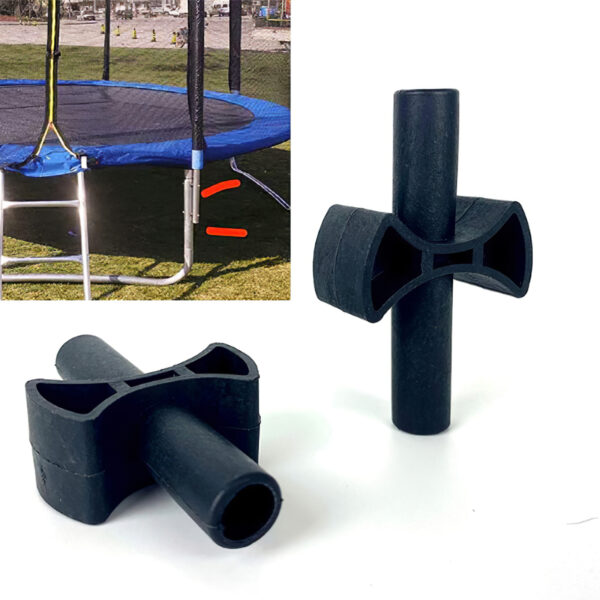 12 Pieces Trampoline Enclosure Pole Gap Spacers ABS Plastic Thick Cross Trampoline Gap Gaskets Plastic Replacement Accessories Swimming