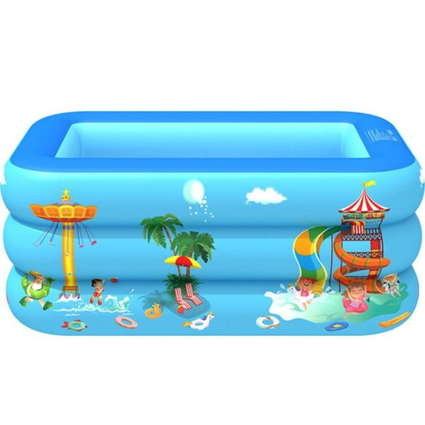 120/130/150 CM Rectangular Inflatable Swimming Pool Paddling Pool Bathing Tub Outdoor Summer Swimming Pool For Kids Square Swimming
