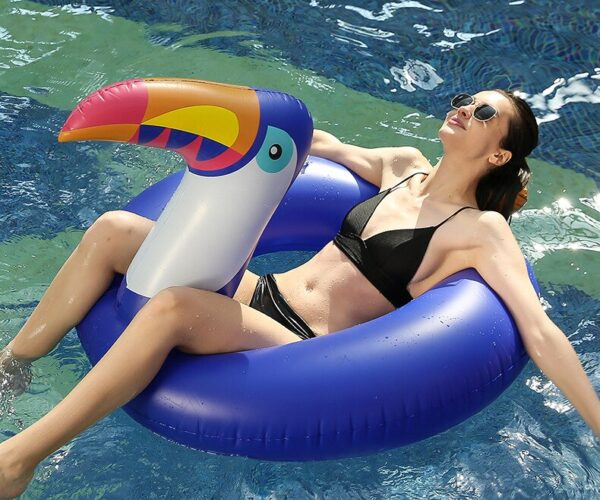 120/175CM Giant Inflatable Toucan Swimming Ring Newest Pool Float For Women Men Water Toys Lounger Air Mattress Boia Piscina Swimming