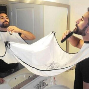120x80cm Waterproof Floral Cloth Man Beard Bathroom Black Beard Apron Hair Shave Apron for Man Household Cleaning Protecter Kitchen