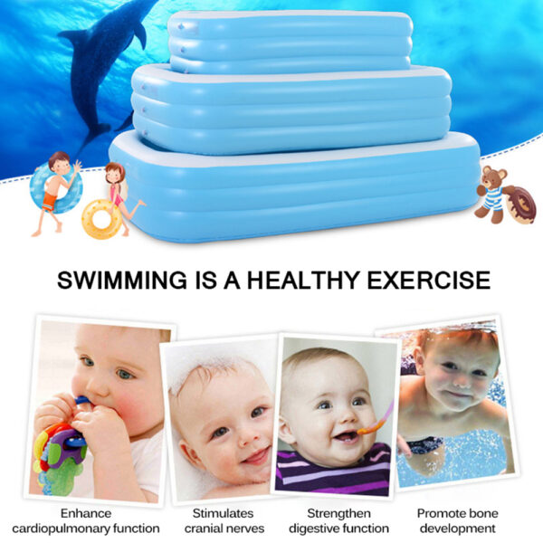 130/150/190cm Children Bathing Tub Baby Home Use Paddling Pool Inflatable Square Swimming Pool Kids Inflatable Pool Freeshipping Swimming