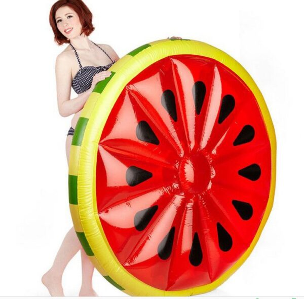140CM 55 Inch Giant Inflatable Watermelon Pool Float Red Ride-On Swimming Ring Adults Children Water Holiday Party Toys Piscina Swimming