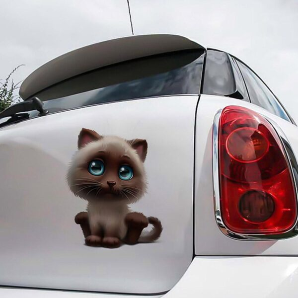15 * 18CM Car 3D Reflective Sticker Anime Funny Personality Kitty Sticker Car Cover Scratch Car Stickers Car accessories
