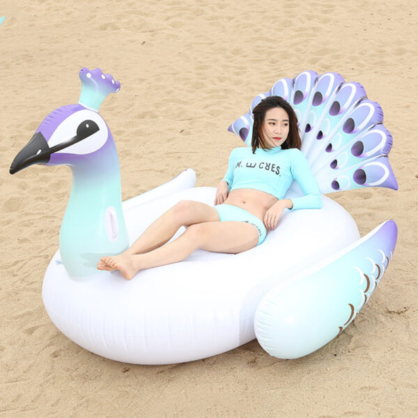 150/200CM Giant Inflatable Peacock Pool Float Swimming Ring Circle Mattress Floating Island Pool Toys Piscina Boias Accessories Swimming