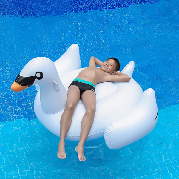 150CM Giant Swan Swimming Ring Inflatable Ride-On Pool Toy Float inflatable swan pool Swim Ring Holiday Water Fun Pool Toys Swimming