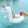 175*120CM Large Inflatable Beach Circle Flotador Unicornio White Children's Pool Float Adult Swimming Ring Summer Water Toy Swimming