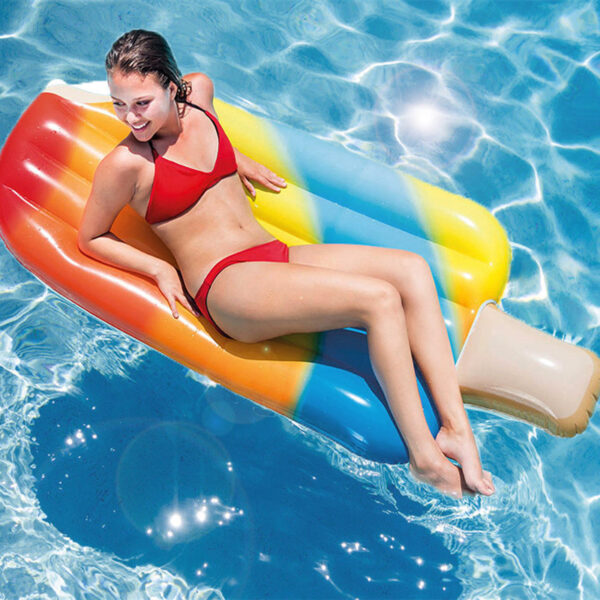 178CM New Inflatable Ice Block Float Mat Huge Size Ice Cream Pool floats Inflatable Popsicles Pool Swim Ring Water floating Bed Swimming