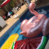 190CM Giant Inflatable Flamingo Swimming Float Pool Float Swan for Adult Tube Raft Kid Swimming Ring Gold Color Swimming