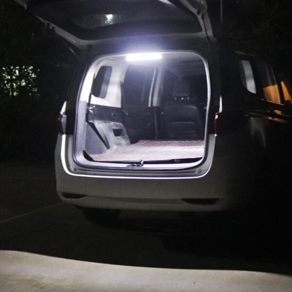 1Pcs 72 LED Car Interior White Strip Light Bar Car Interior Lamp with On/Off Switch for Van Lorry Truck Camper Boat Car accessories