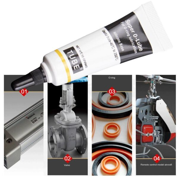 1pcs New 10g Food Grade Silicon Grease Lubricant Super O-lube O-Ring Lubrication For O-ring Maintenance Of Aquarium Filter Tank Car accessories