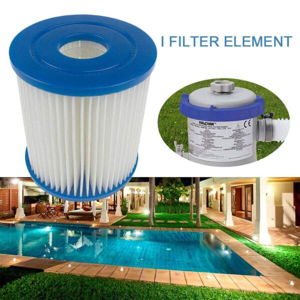 1pcs Pool Filter Core Swimming pool Replacement Filter Cartridge Pump Filter Swimming Pool Water Clean Tool Pump Easy Set Up Swimming