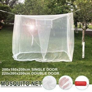 2.2m Double Door Mosquito Net Four Corner Outdoor Camping Mosquito Net With Storage Bag Insect Tent Protection Bedroom Bedrooms