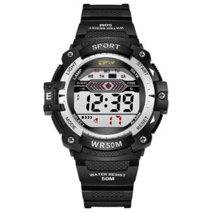 2 Years Battery Life Men Digital Watch Outdoor Sport 5ATM Waterproof Alarm Chrono Auto Date Fashion Life & Accessories Iwatch & Accessories