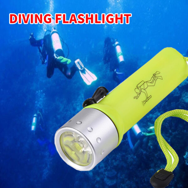 2000LM Q5 LED Waterproof Scuba Diver Diving Flashlight Underwater Flash Light Torch Swimming