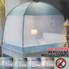 200X120cm Household Yurt Mosquito Net With Bracket Three-Door Mosquito Nets Mesh Encrypted Bed Tent Canopy For for Adult Girls Bedrooms