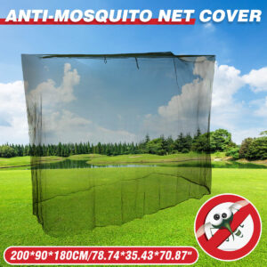 200x90x180cm Camping Mosquito Net Outdoor Tent Army Green Sunshade Cover Netting Travel Polyester Easy Washing Bed Canopy Nets Bedrooms