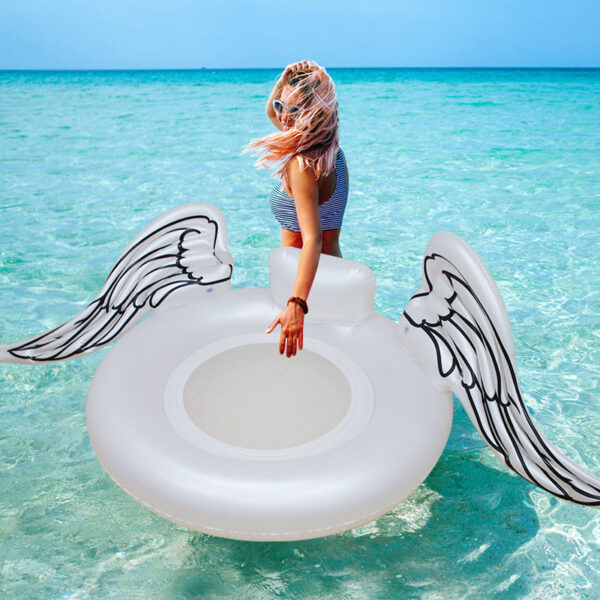 2018 New Angel Swimming Float angel wings Swimming ring Inflatable Pool Float Tube Raft Swimming Ring Summer Water Toy Swimming
