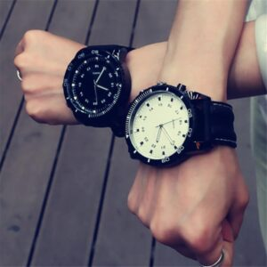 2018 Sport Large Dial Men Women Watch Faux Leather Band Quartz Wrist Watch Couple Gift Fashion Life & Accessories Iwatch & Accessories