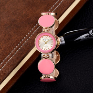 2019 Fashion Pink Stainless Steel Women Small Bracelet Watches Ladies Casual Dress Wristwatch Female Luxury Cheap Clock Hot Sale Fashion Life & Accessories Iwatch & Accessories