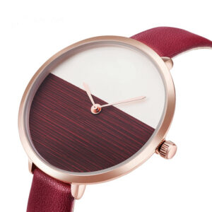 2019 Hot Sale Simple Style Red Leather Quartz Watches Women Fashion Watch Minimalist Ladies Casual Wristwatch Female Cheap Clock Fashion Life & Accessories Iwatch & Accessories