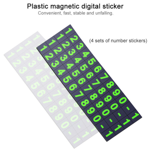2019 New Car Styling Elegant Temporary Parking Card Luminous Phone Number Card Plate Sticker Auto Cards Park Plate Car Styling Car accessories