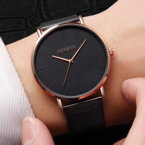 2019 New Casual Luxury Women's Men Couple Stainless Steel Band Matte Texture Quartz Analog Wrist Watch WholesaleQuickdelivery Fashion Life & Accessories Iwatch & Accessories