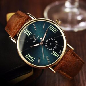 2019 Top Mens Luxury Fashion Business Leather Blue Glass Quartz Analog Wristwatch Noctilucent Watches clock Gift Dropshipping Fashion Life & Accessories Iwatch & Accessories