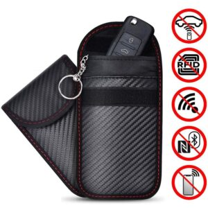 2020 RFID Signal Blocking Bag Cover Signal Blocker Case Faraday Cage Pouch For Keyless Car Keys Radiation Protection Cell Phone Car accessories