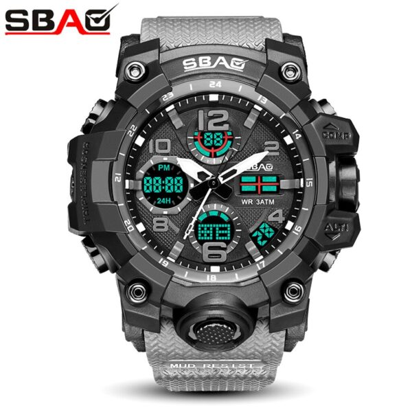 2020 Sbao Sport Watch Men Digital Led Electronic Military Watches Tpu Wristwatches Reloj Clock Saat Montre Dropshipping Relogio Fashion Life & Accessories Iwatch & Accessories