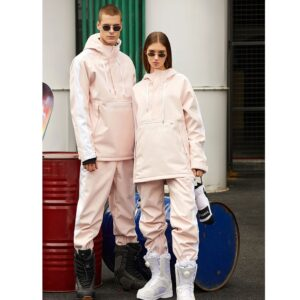2020 Winter New Men and Women Ski Suits Fashion Pink Waterproof Warm Cold Wearable Outdoor Snow Snowboard Ski Jacket and Pants Men Ski Suits Jackets ski