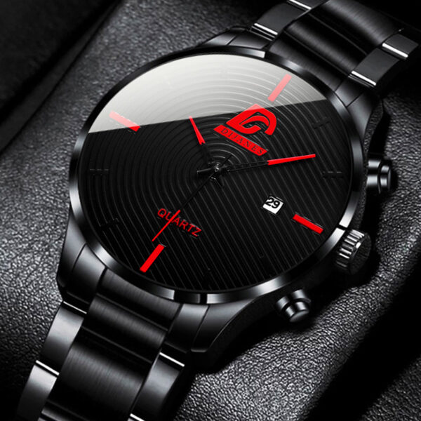 2021 Fashion Mens Stainless Steel Watches Luxury Men Business Casual Analog Quartz Wristatch Male Calendar Watch Montre Homme Fashion Life & Accessories